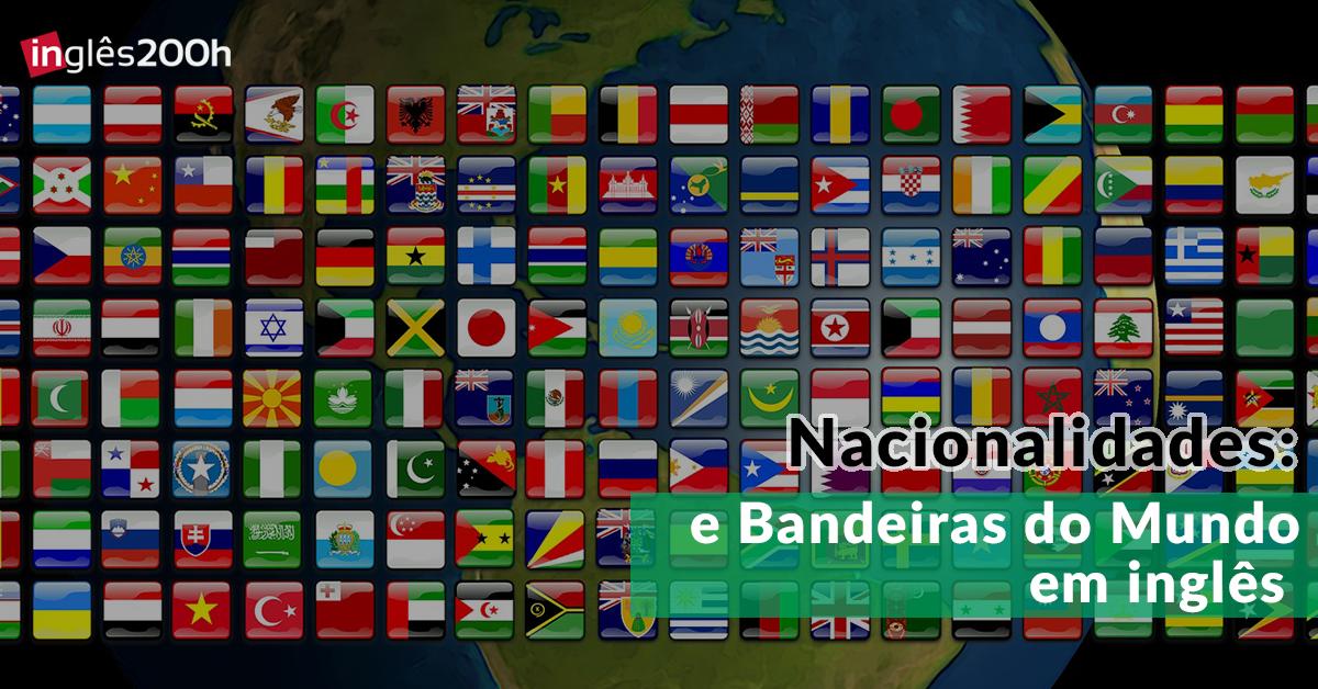 Amado Nacionalidades em inglês e Bandeiras do Mundo WN76