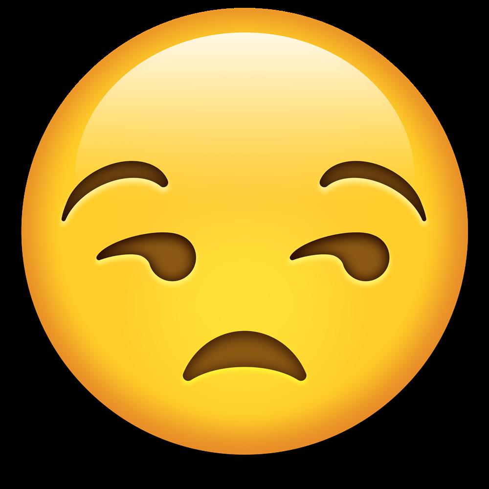Unamused Face Emoji PNG - Curso de Inglês Online